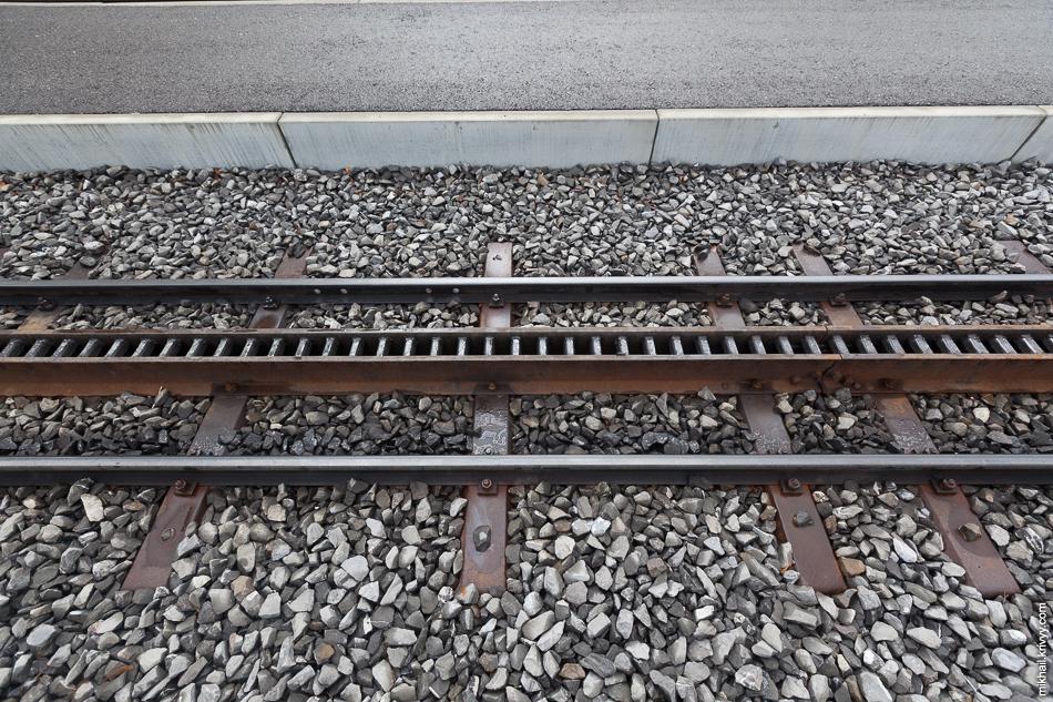 """Зубчатая железная дорога """"Венгернальп"""" (Wengernalpbahn). Станция Гриндельвальд (Grindelwald)."""