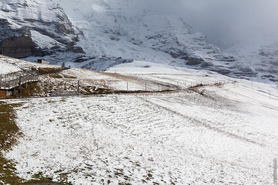 Железная дорога Юнгфрау (Jungfraubahn). Клайне-Шайдег (Kleine Scheidegg).