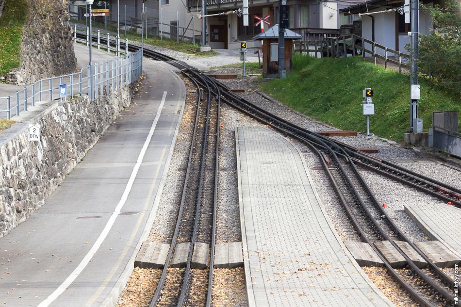Зубчатая железная дорога. Станция Венген (Wengen).