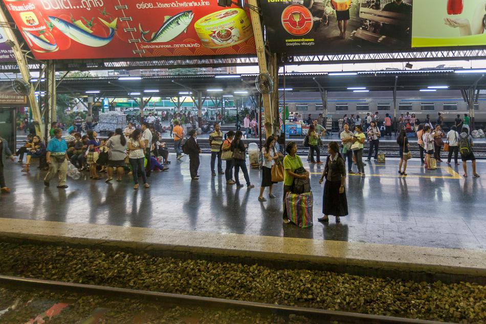 В Бангкоке настоящий, живой вокзал.