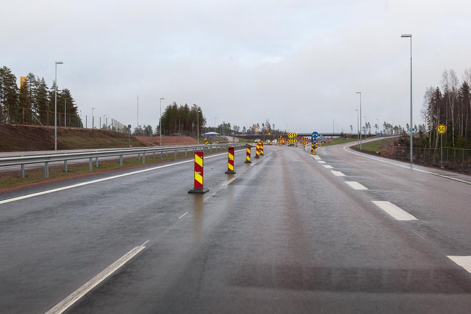 8. Конец участка от ГЭС Ловийса до заправки ABC в районе деревеньки Pyhtää.