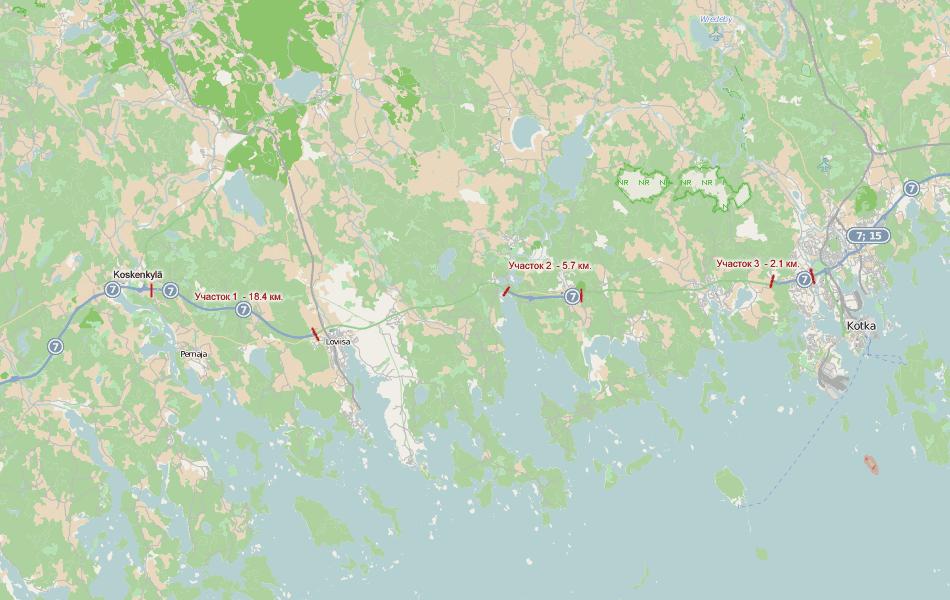 Текущая ситуация. Надо сказать, что финны очень оперативно редактируют все карты. Openstreetmaps и Google Maps отражают актуальную ситуацию.