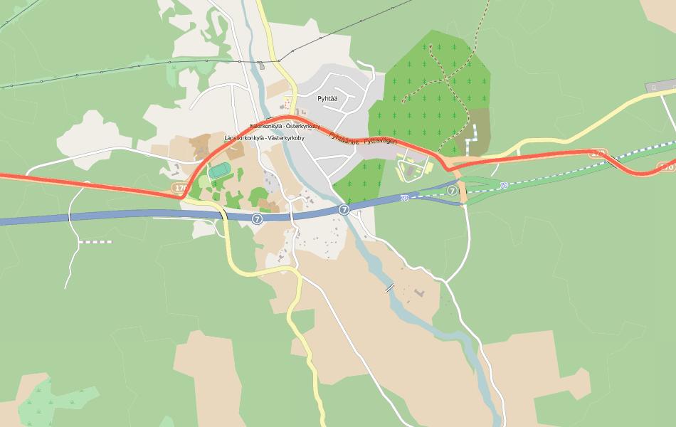 GPS трек от июля 2013 наложенный на карту января 2014. Как раз показывает схему движения по старой дороге.