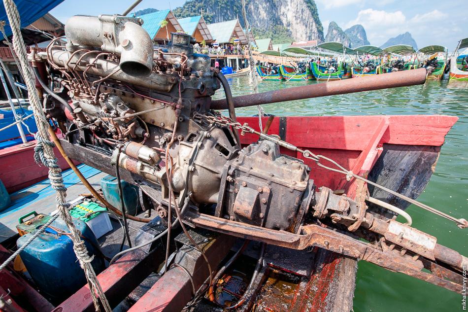 Лодка-длиннохвостка. Залив Пханг Нга.