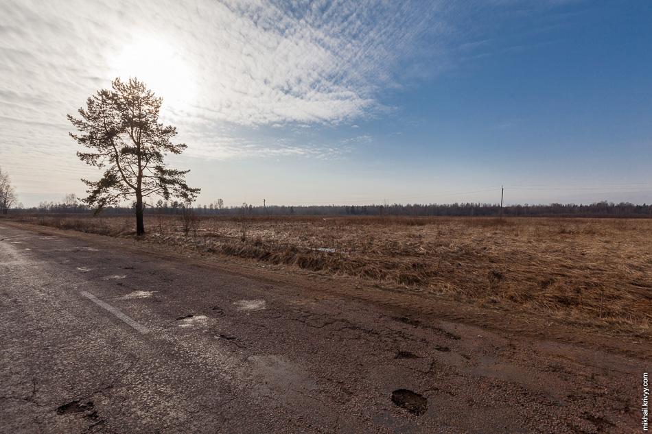 В районе будущего пересечения с автодорогой Новоселицы - Папоротно тоже все уже размечено.