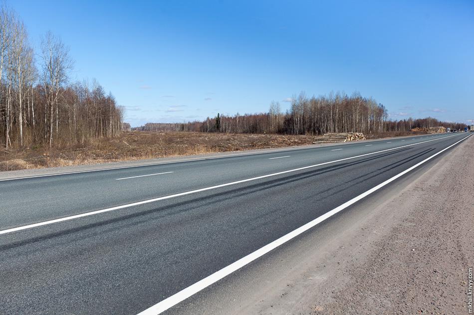 5. Просека под платную автомагистраль М11 в сторону Санкт-Петербурга.