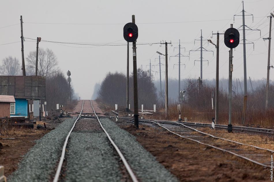 Станция Рогавка. Вид в сторону Новгорода.