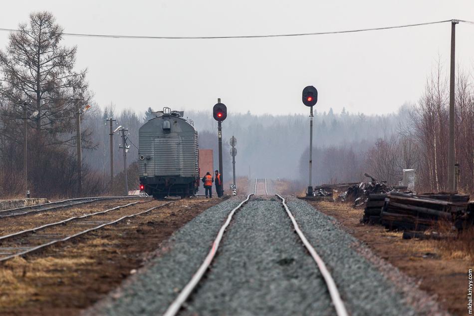 Станция Рогавка. Вид в сторону Новолисино.