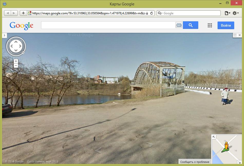 Боровичи на Google StreetView.