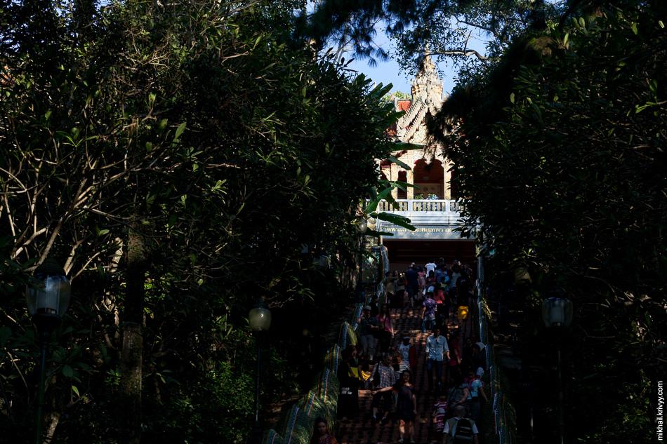 Лестница к храму Ват Прахат Дой Cутхеп.