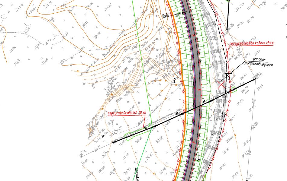 То же место, чуть южнее. Тут стоит отметить спрямление существующей дороги Савино - Селищи.