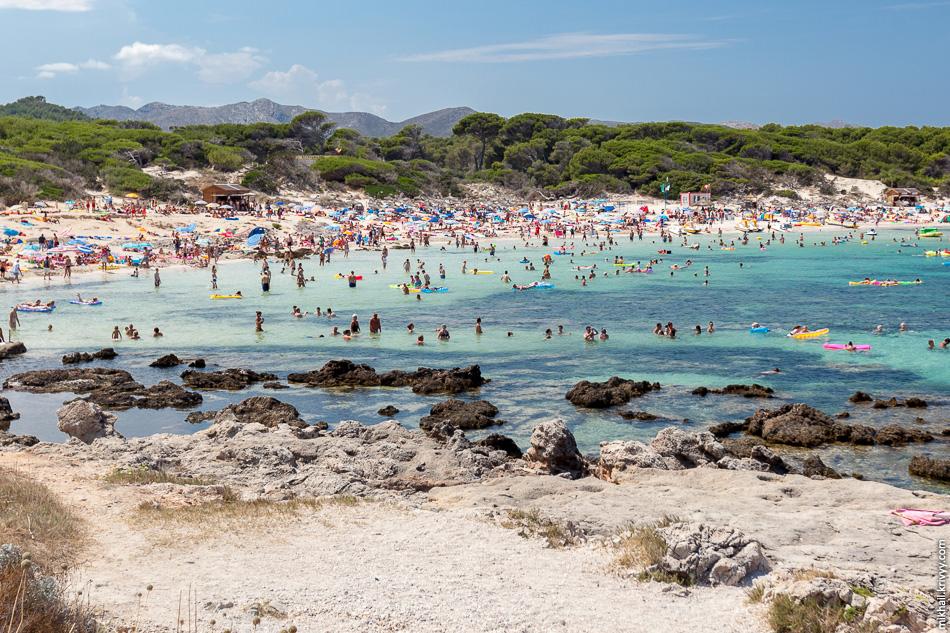 Пляж Кала де Акуила (Cala de aguila). Мальорка.