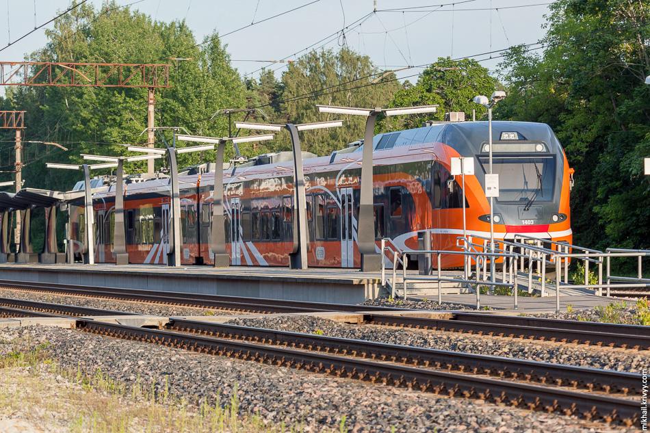 Электропоезд Stadler FLIRT 1403. Станция Аэгвийду (Aegviidu).