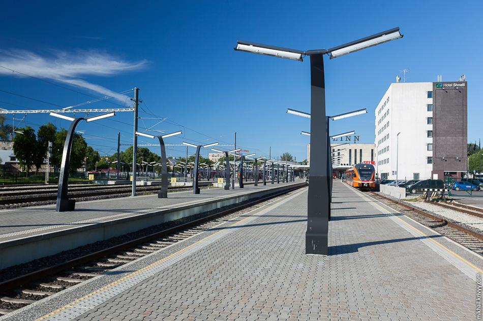 Балтийский вокзал в Таллине (Balti jaam).