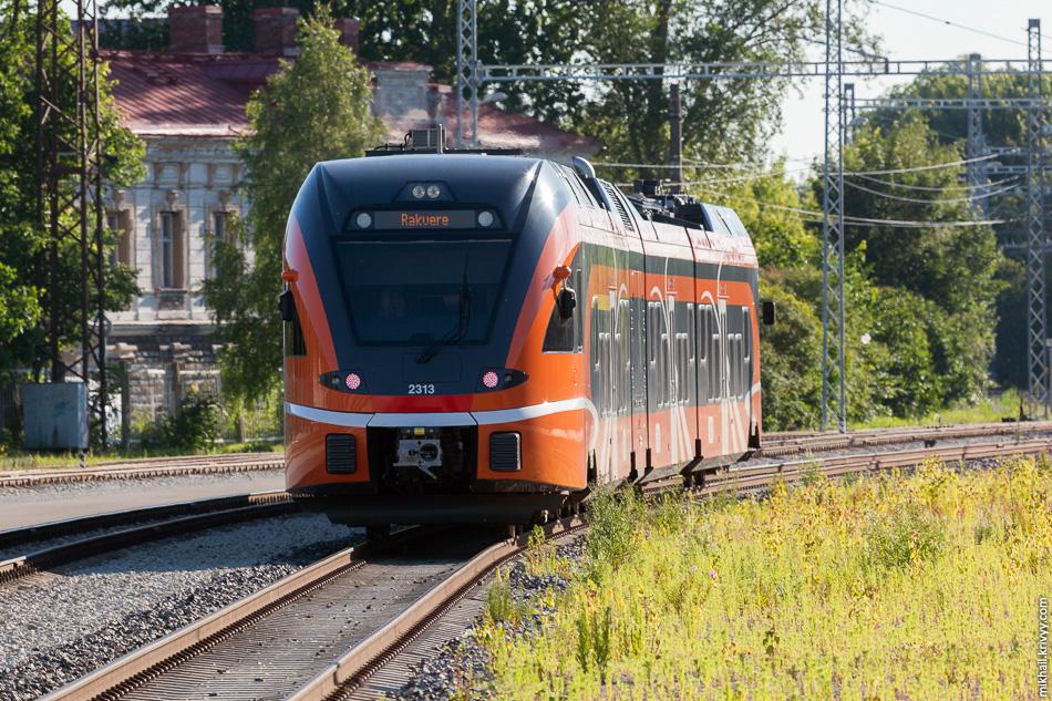 Дизель-поезд Stadler FLIRT 2313. Балтийский вокзал, Таллин.