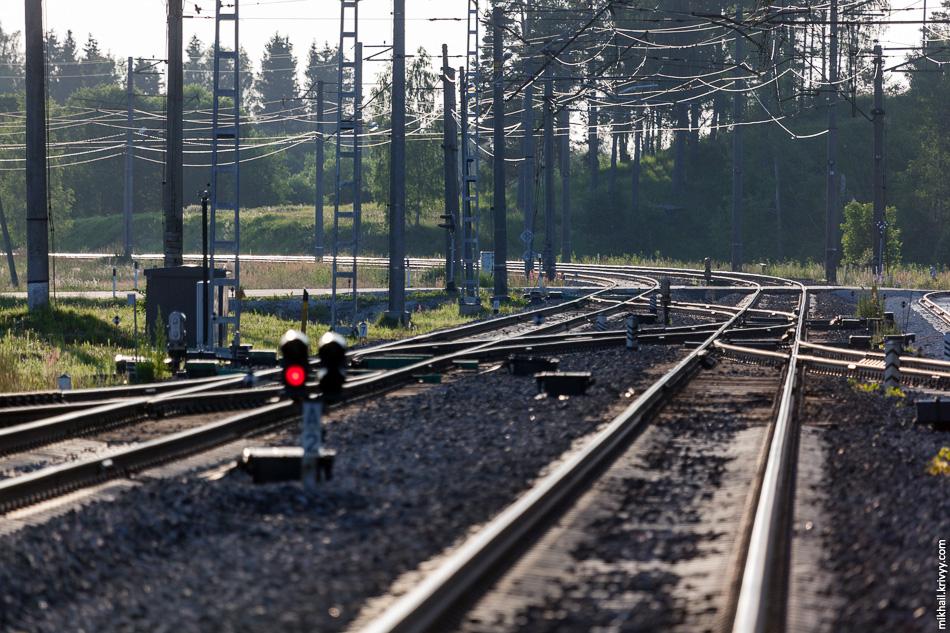 Фокусное расстояние в 400 мм. Простой и эффективный способ оценить качество пути. Например, можно сравнить с участком Новгород - Новолисино.