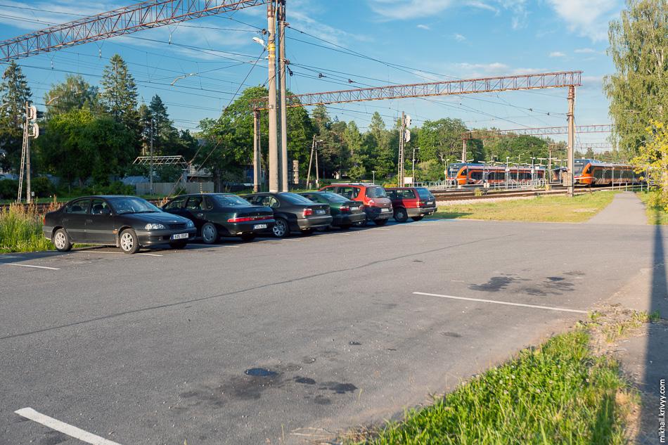 Перехватывающая парковка у станции Аэгвийду (Aegviidu).