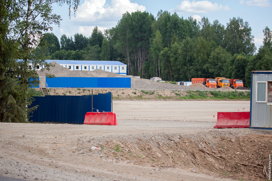 Городок строителей у озера Заперечье.