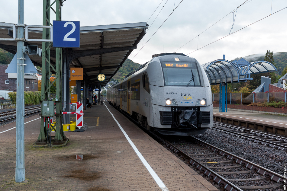 Siemens Desiro ML компании Trans Regio. Именно на этом поезде мы добрались до Боппарда.