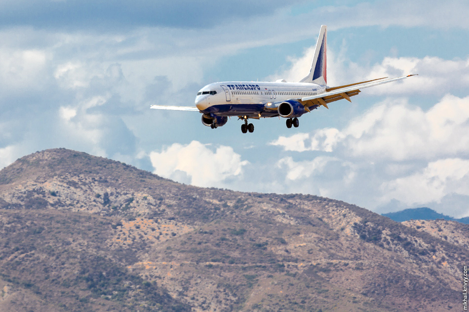 EI-RUG. Boeing 737 авиакомпании Transaero Airlines стал единственным бортом из России.
