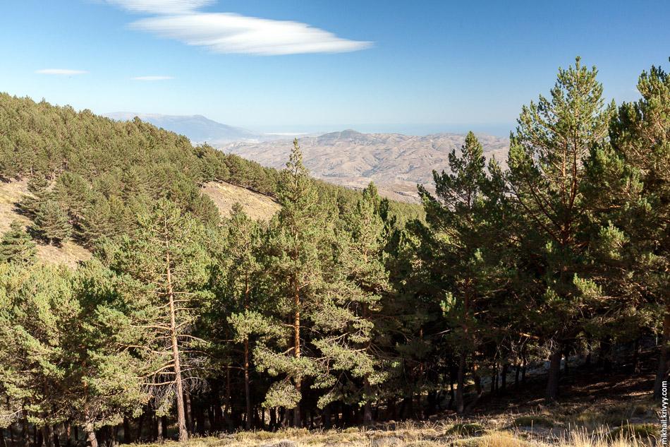 Вид в сторону Альмерии. В Гранаду мы приехали из Севильи как раз поездом на Альмерию.