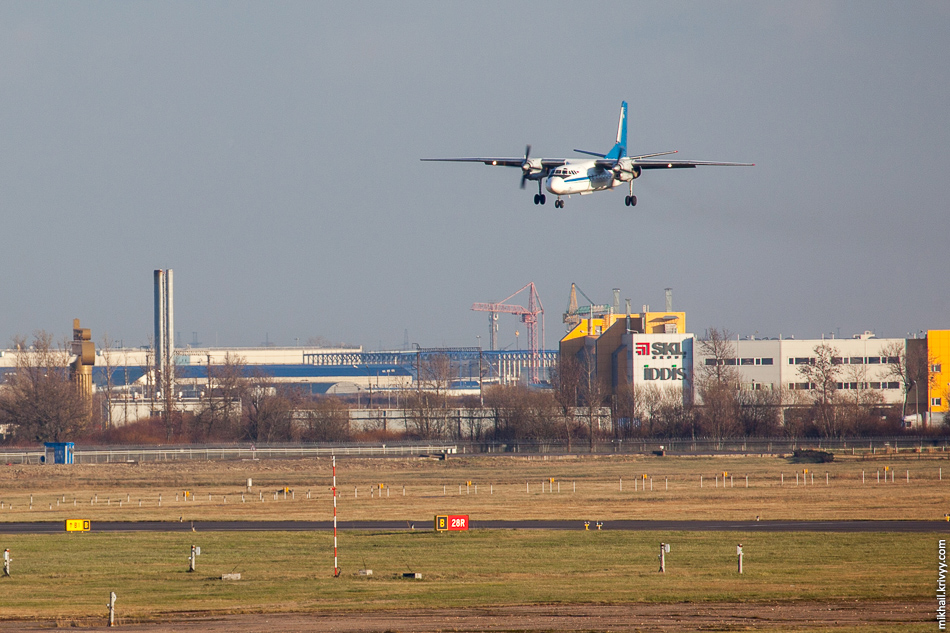 А вот и Ан-24  авиакомпании Псковавиа. RA-47697. Рейс из Апатитов.
