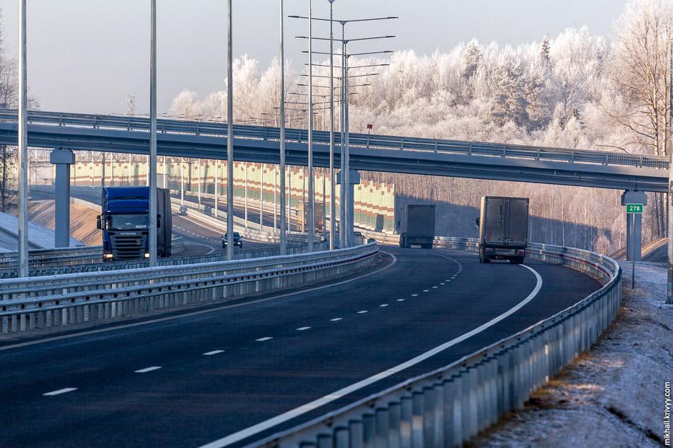 Автомагистраль М11 Москва - Санкт-Петербург. 258-334 км., обход Вышнего Волочка.