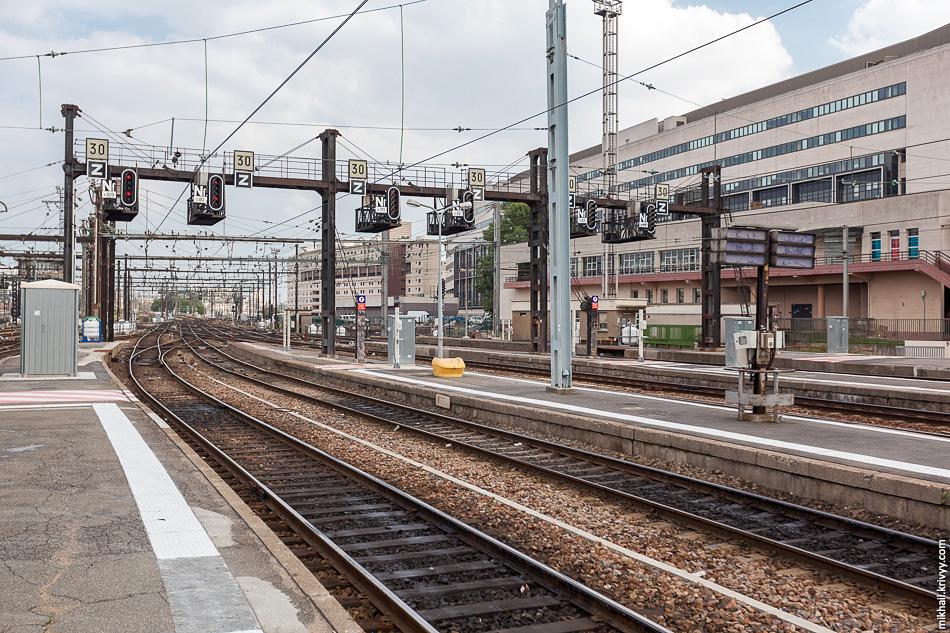 Путевое развитие на Лионском вокзале.