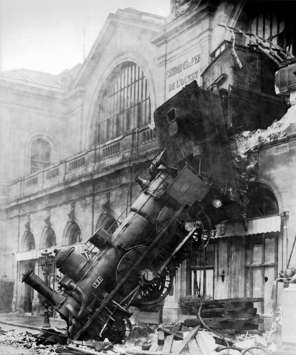 Авария на вокзал Монпарнас. 1895 год.