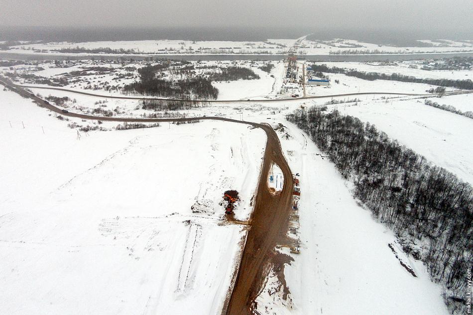 М11: 537 км. Вид в сторону Санкт-Петербурга