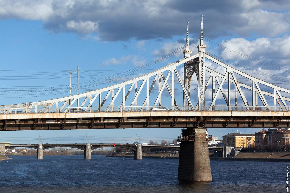 Староволжский и Нововолжский мосты, Тверь.