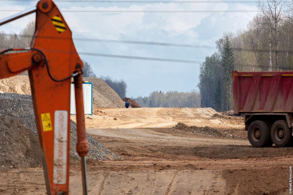 Вид от дороги Савино - Селище в сторону Москвы.