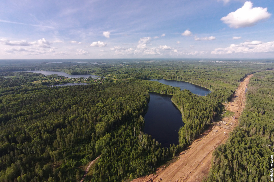 Окуловские озера и строительство платной автомагистрали М11 Москва - Санкт-Петербург.