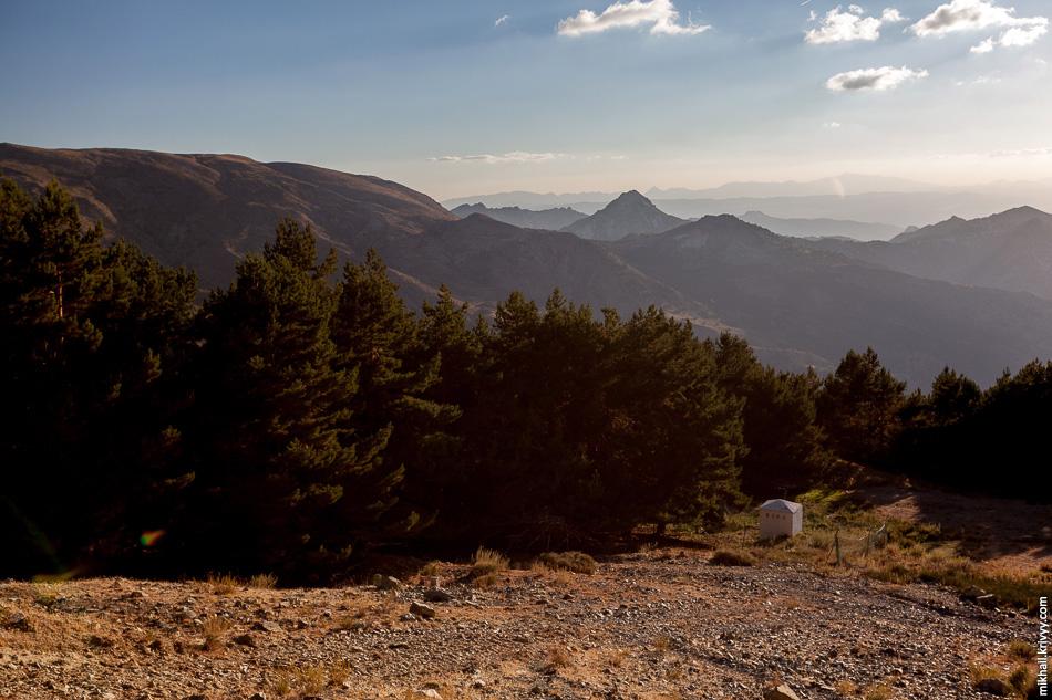 Сьерра-Невада. Высота примерно 2500 метров. От край растительности, выше совсем немного лугов и сплошные камни.