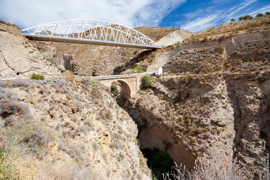 Мост Таблате, Андалусия, Испания. Puente de Tablate, Lanjarón.
