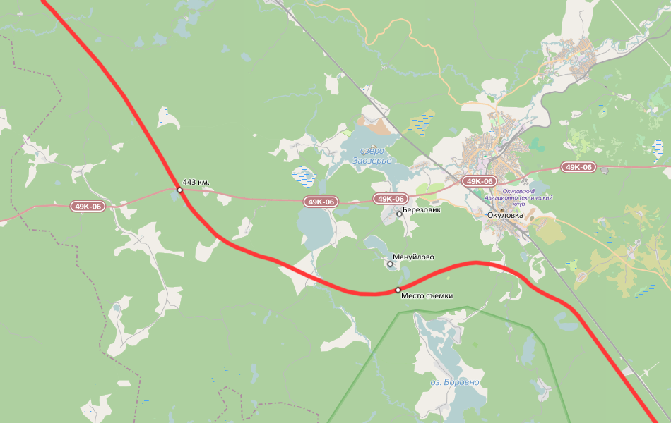 Карта места съемки. Более общую карту можно найти в одной из предыдущих публикаций.