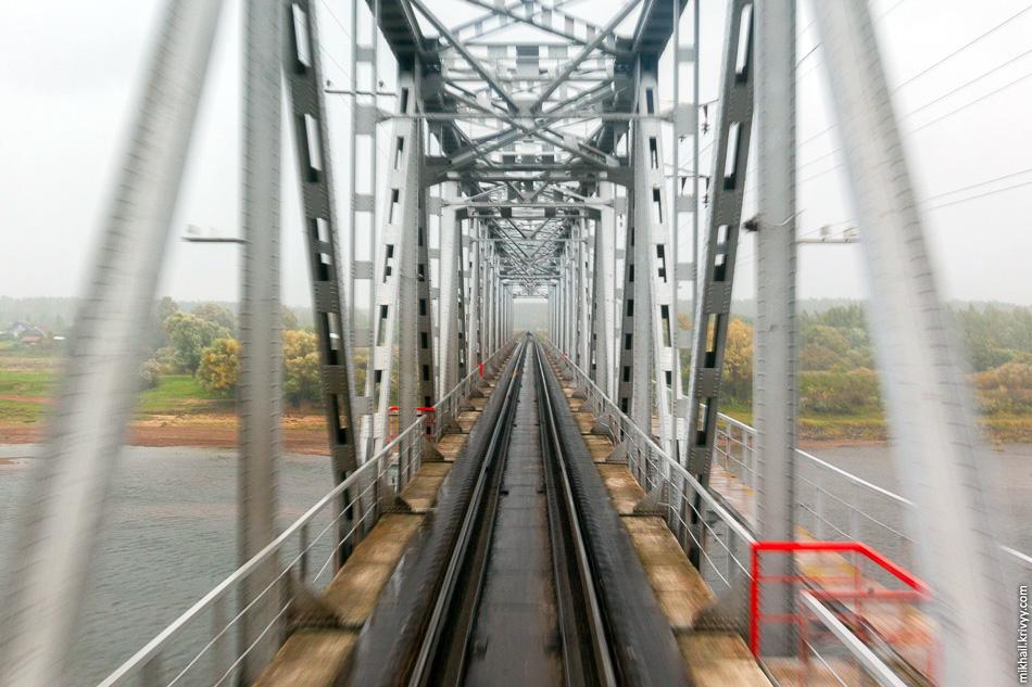 Мост через реку Ловать в Парфино.