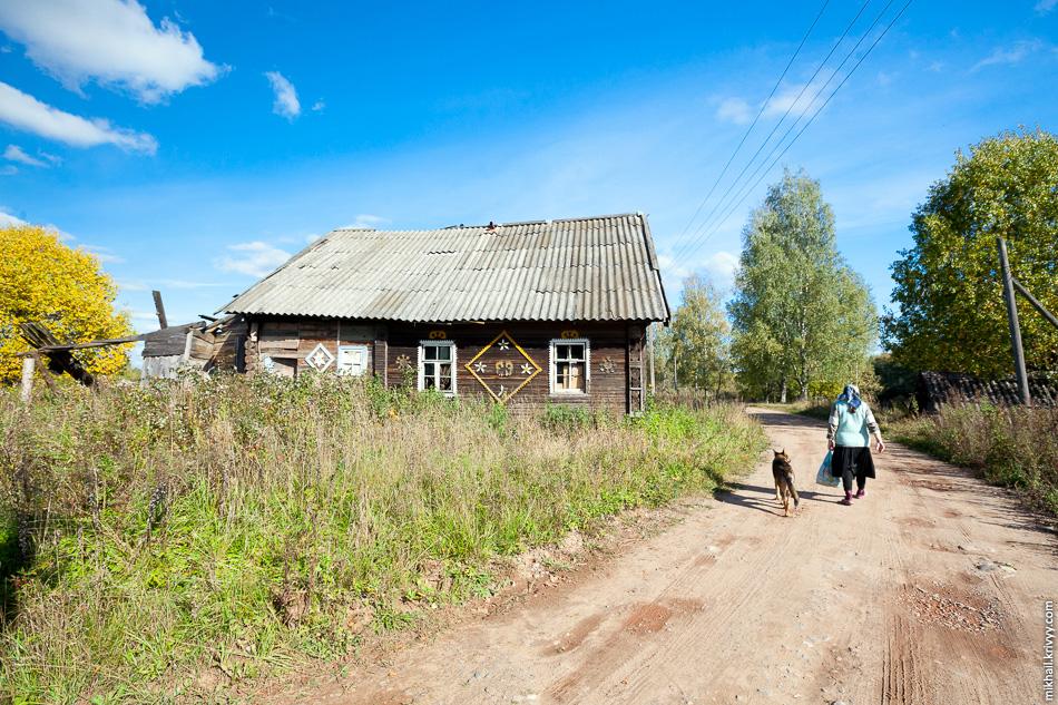 Заброшенный дом в деревне Ольховка.