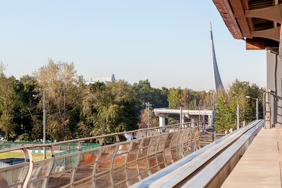 Вид со станции «Улица Сергея Эйзенштейна». Это северная конечная.