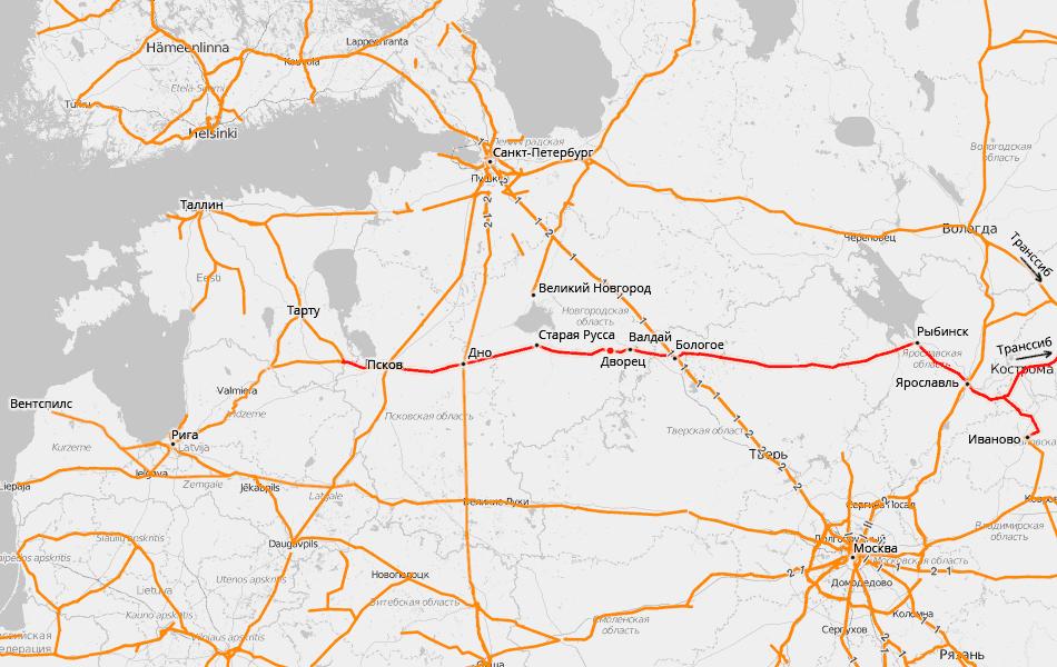 Схема основанная на данных проекта openrailwaymap.org