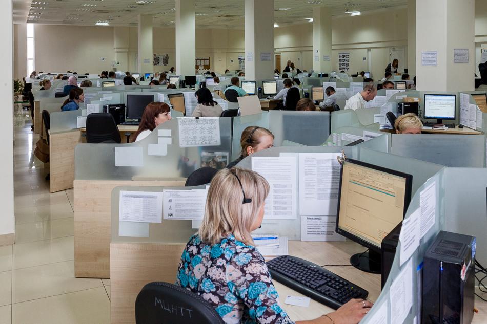 Один из залов контакт-центра в Саранске.