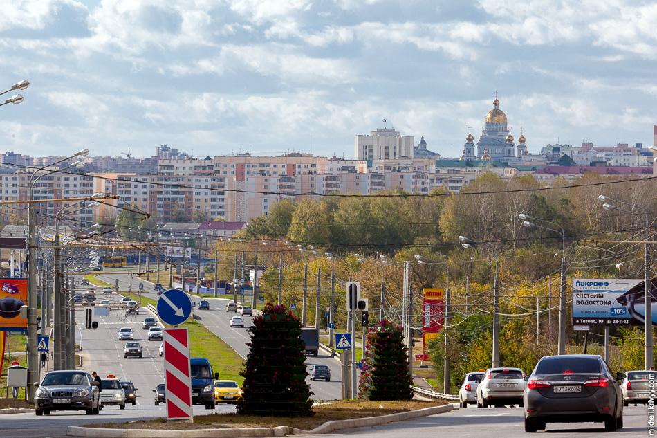 Советская застройка центральной части Саранска.