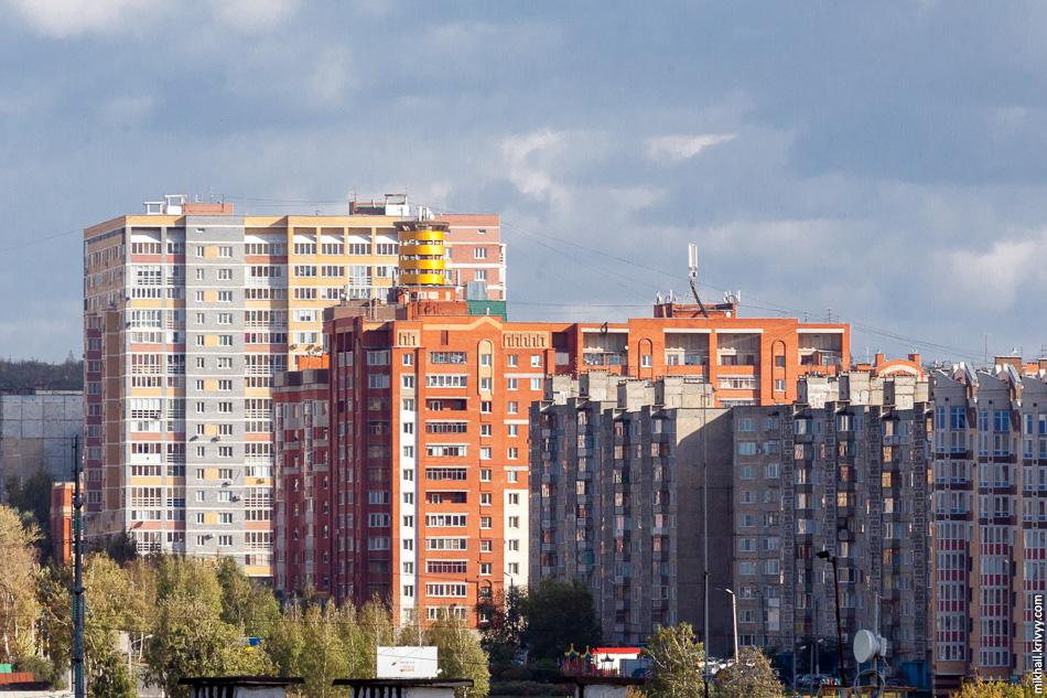 Микрорайон Химмаш. Типичная советская застройка.