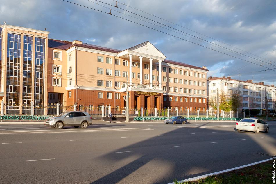 Здание управления МВД России по Республике Мордовия.
