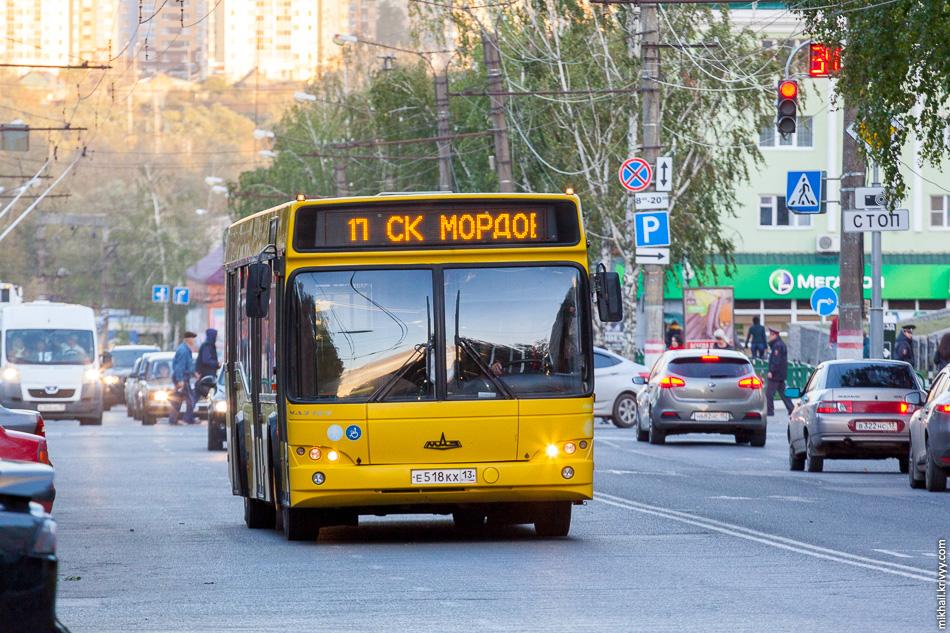 Городской автобус, МАЗ.