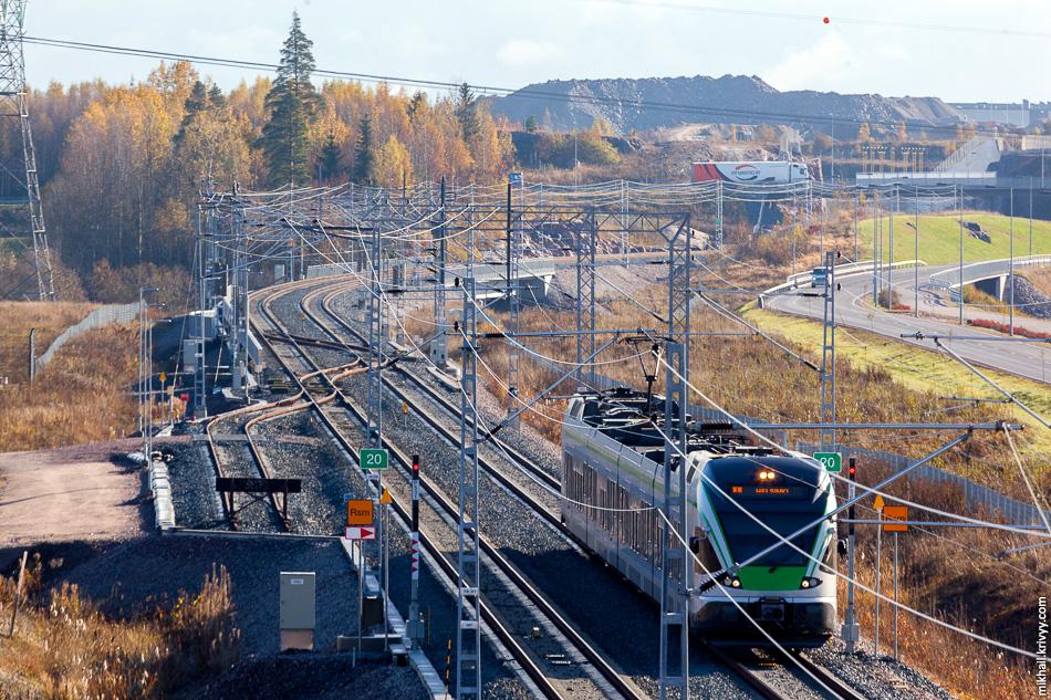 JKOY Class Sm5-32, участок Aviapolis - Kivistö.