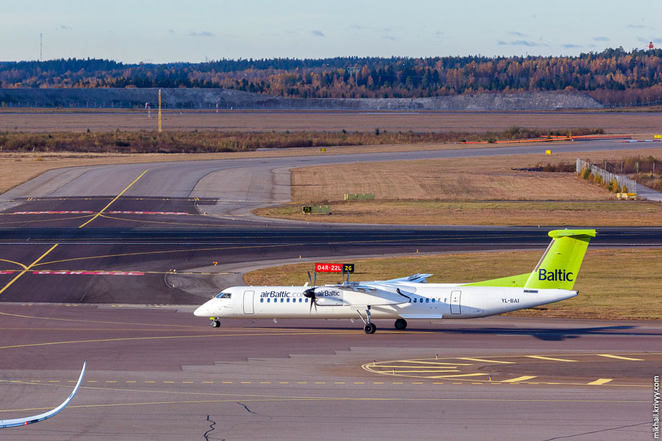 AirBaltic, Bombardier Dash 8, YL-BAI.