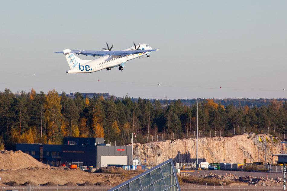 Flybe, ATR 72, OH-ATO. Единственный вылет с полосы 15/33.