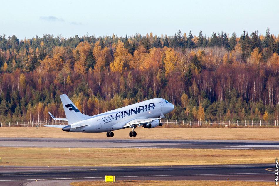 Самый маленький. Finnair, Embraer 170, OH-LEK.