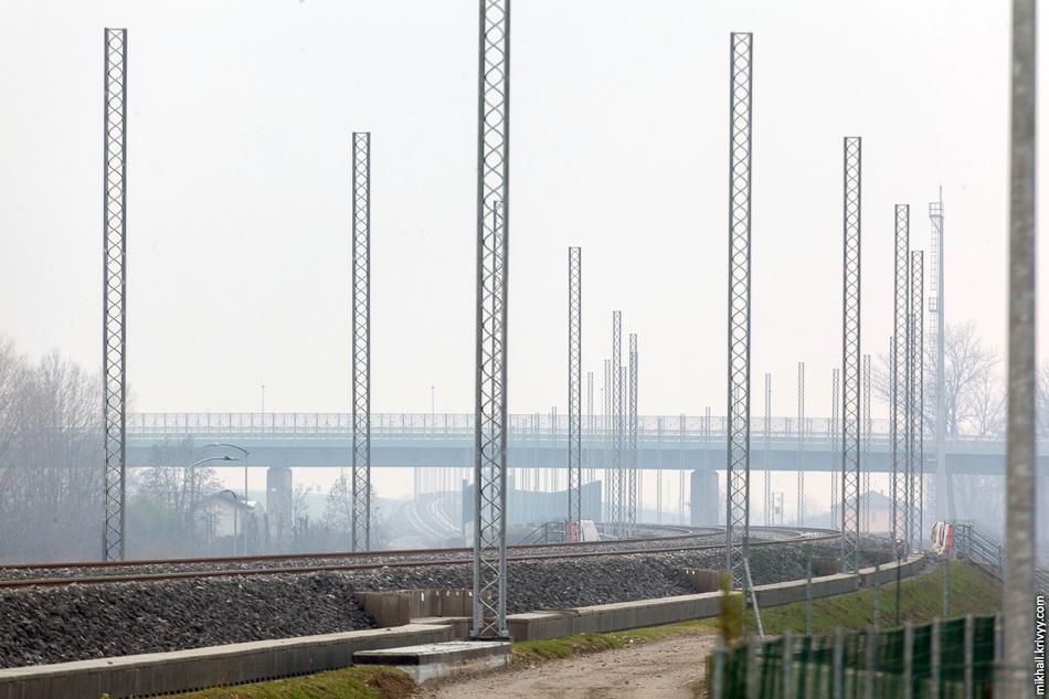 Строительство высокоскоростной железной дороги Турин - Венеция на участке Милан - Брешиа.